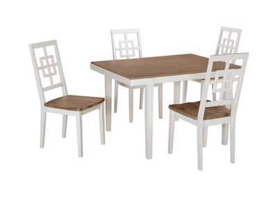 Image for Brovada Two-tone Rectangular Dining Room Table Set