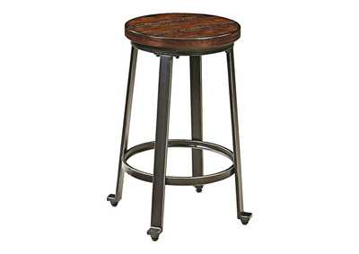 Image for Challiman Rustic Brown Stool (Set of 2)