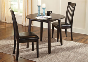 Hammis Round Drop Leaf Table w/ 2 Side Chairs,Direct To Consumer Express