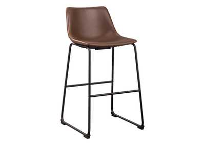 Image for Centiar Brown Pub Height Bar Stool (Set of 2)