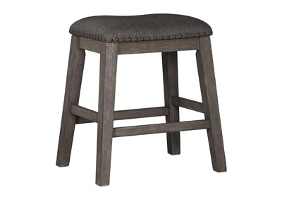 Image for Caitbrook Dark Gray Upholstered Stool (Set of 2)