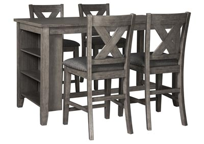 Image for Caitbrook Dark Gray Dining Set w/4 Bar Stools