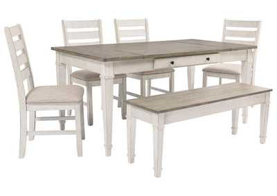 Image for Skempton Dining Room Table w/4 Chairs and Bench
