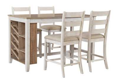 Image for Skempton Rectangular Counter Dining Set w/4 Chairs