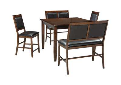 Image for Meredy Brown Dining Room Counter Table Set
