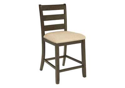 Rokane Brown Upholstered Barstool (Set of 2),Direct To Consumer Express