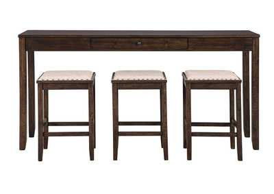 Image for Rokane Counter Height Dining Room Table and Bar Stools (Set of 4)