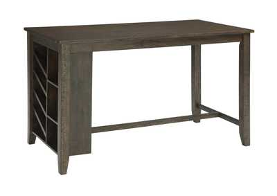Rokane Brown Rectangular Counter Table w/Storage,Signature Design By Ashley