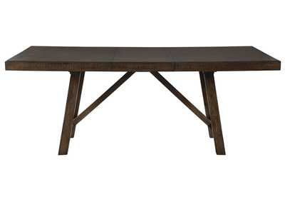 Rokane Light Brown Dining Table w/Extension