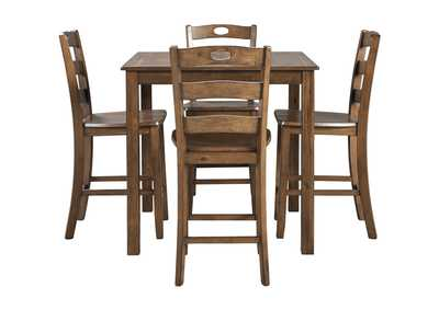 Image for Hazelteen Brown Square Counter Table Set