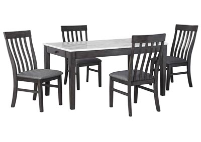 Image for Luvoni Charcoal Dining Table w/4 Side Chair