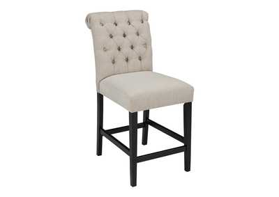 Image for Tripton Medium Linen Upholstered Barstool (Set of 2)