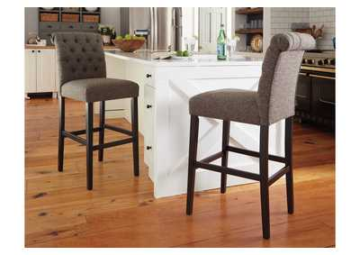 Tripton Medium Brown Tall Upholstered Barstool (Set of 2),Direct To Consumer Express