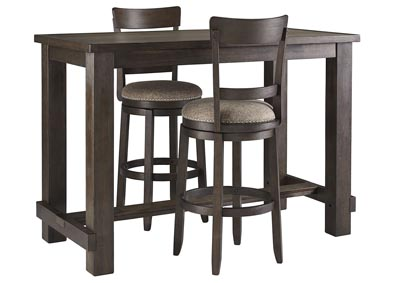 Image for Drewing Brown Bar Table w/2 Upholstered Barstools