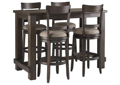 Image for Drewing Brown Bar Table w/4 Upholstered Barstools