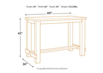 Image for Drewing Brown Bar Height Table