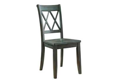 Mestler Antique Blue Side Chair (Set of 2)