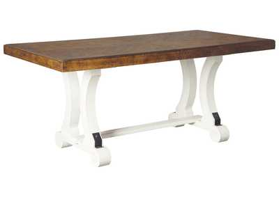 Image for Valebeck White/Brown Dining Table