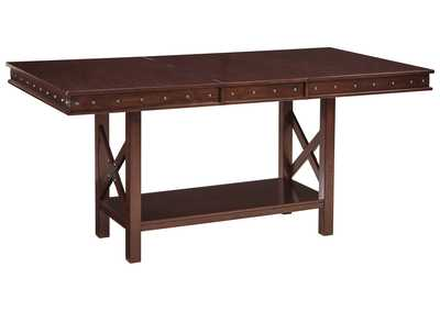 Image for Collenburg Dark Brown Rectangular Dining Room Counter Extension Table