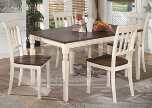 Image for Whitesburg Rectangular Dining Table w/ 4 Side Chairs