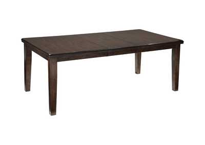 Image for Haddigan Dark Brown Rectangle Dining Room Extension Table