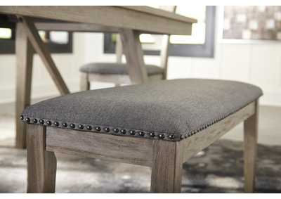 Aldwin Gray Upholstered Bench,Signature Design By Ashley