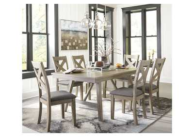 Aldwin Gray Dining Table w/6 Side Chairs,Signature Design By Ashley