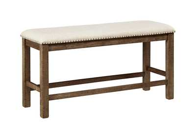 Image for Moriville Gray Double Upholstered Bench