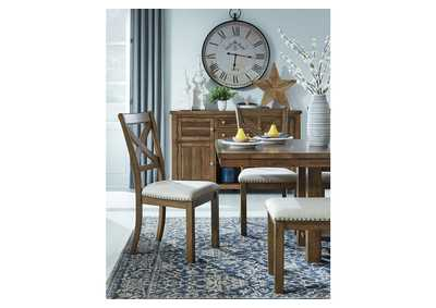 Moriville Beige Dining Table w/6 Side Chairs,Signature Design By Ashley