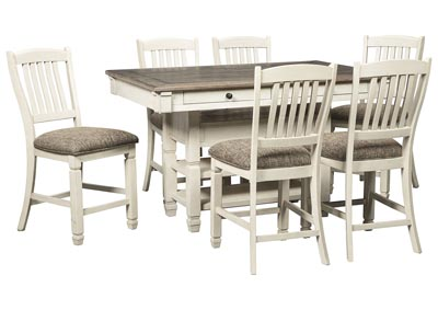 Bolanburg Two-tone 7 Piece Counter Height Dining Set,Signature Design By Ashley