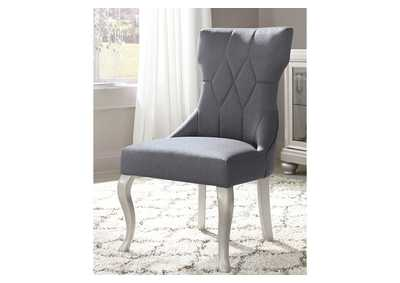 Coralayne Silver Finish Dining Upholstered Side Chair (Set of 2),Direct To Consumer Express