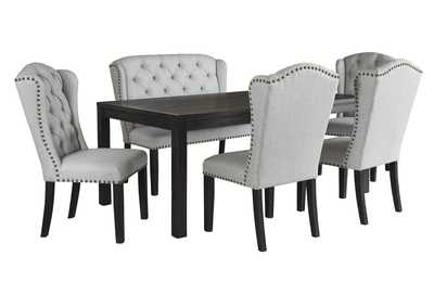 Jeanette 6-Piece Dining Room Set