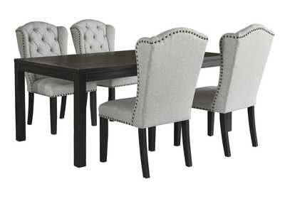 Image for Jeanette 5-Piece Dining Table and Chairs