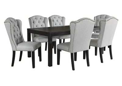 Jeanette 7-Piece Dining Table and Chairs