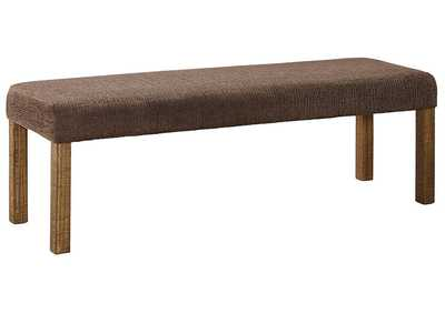 Image for Tamilo Gray/Brown Large Uphostery Dining Room Bench