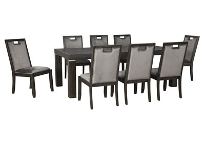 Image for Hyndell Dark Brown Extenable Dining Table w/8 Side Chair
