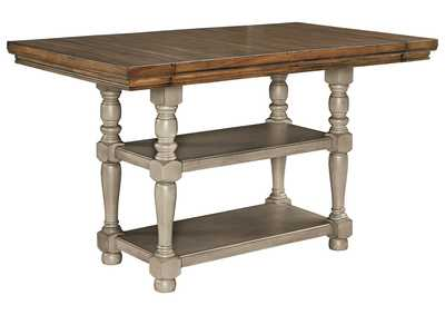 Image for Lettner Gray/Brown Counter Table