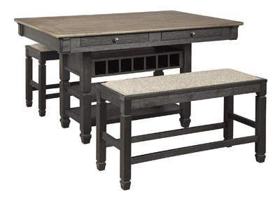 Image for Tyler Creek Counter Height Dining Table and 2 Benches