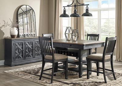 Tyler Creek Black/Grayish Brown 5 Piece Counter Height Dining Set