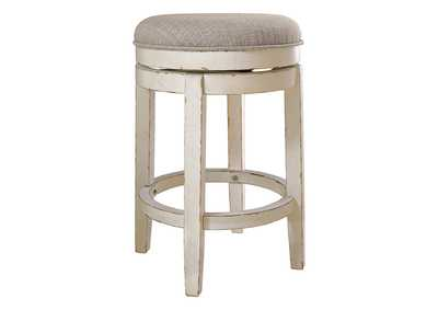 Image for Realyn Chipped White Bar Stool