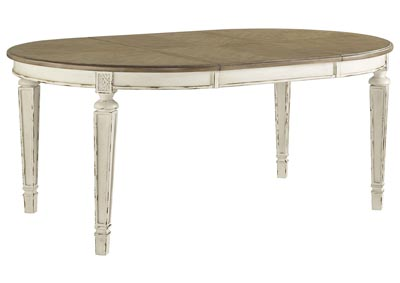 Image for Realyn Chipped White Oval Extended Dining Table