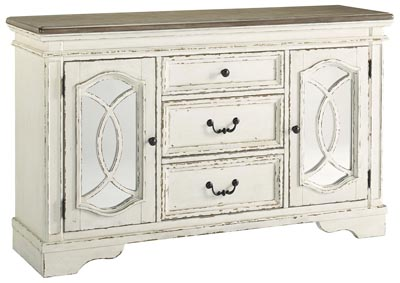 Image for Realyn Chipped White Dining Room Server