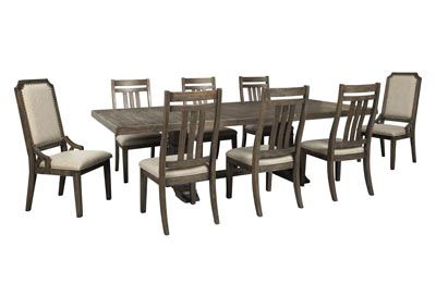 Image for Wyndahl Brown Dining Table w/6 Side Chair & 2 Upholstered Chair