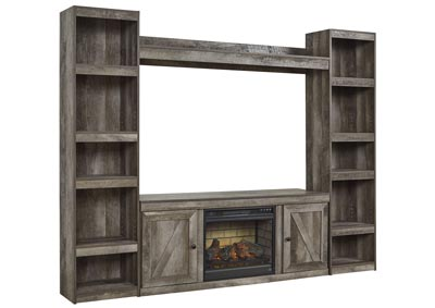 Wynnlow Gray Entertainment Center w/Fireplace Insert Infrared