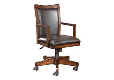Image for Hamlyn Medium Brown Swivel Desk Chair