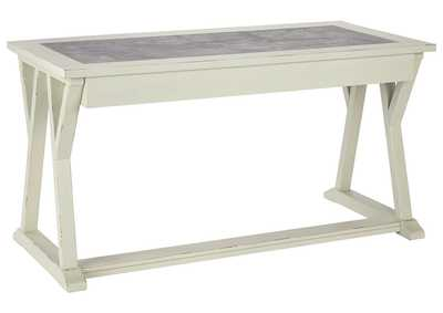 Jonileene White/Gray Home Office Large Leg Desk