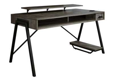 Image for Barolli Gunmetal Gaming Desk