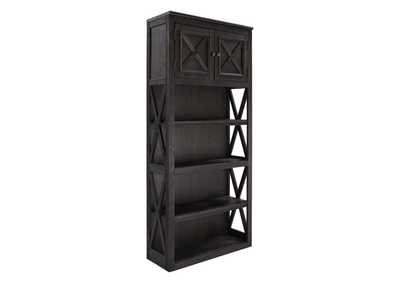 Tyler Creek Grayish Brown/Black Large Bookcase