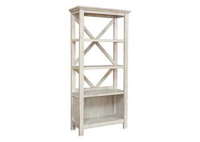 "Image for Carynhurst Whitewash 75"" Bookcase"