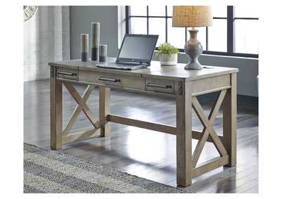 Aldwin Gray Home Office Desk w/Lift Top